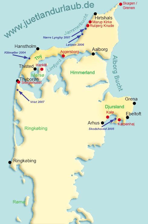 bernstein dänemark karte Juetlandurlaub   Urlaub im daenischen Ferienhaus   Landkarte